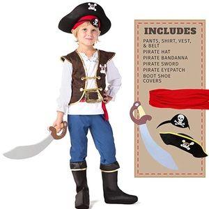 Boys pirate costume — medium